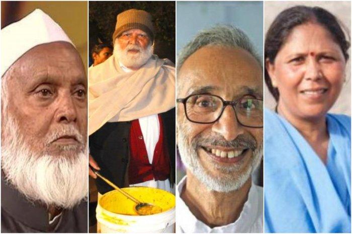 (left to right) Mohammed Sharif, Jagdish Lal Ahuja, Sathyanarayan Mundayoor and Usha Chaumar.