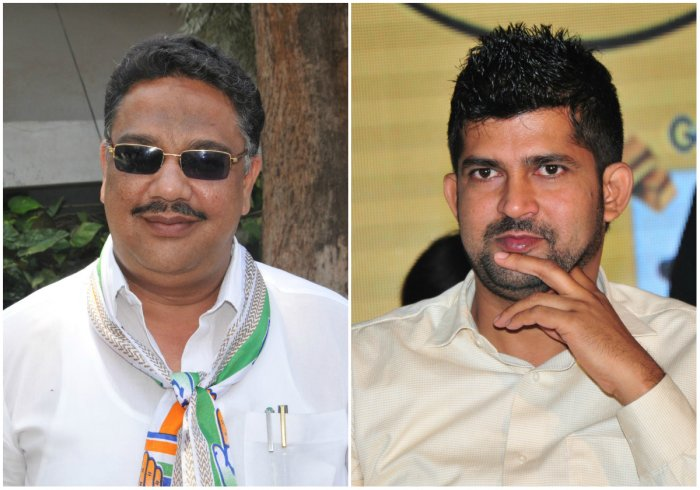 MLA Tanveer Sait (L) and MP Pratap Simha (R)