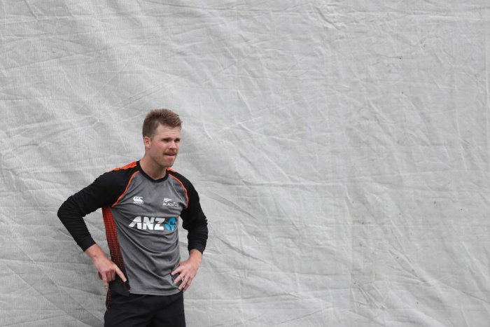 New Zealand Lockie Ferguson attends a training session ahead of the first Test match between New Zealand and England played at Bay Oval in Mount Maunganui on November 20, 2019. Photo/AFP