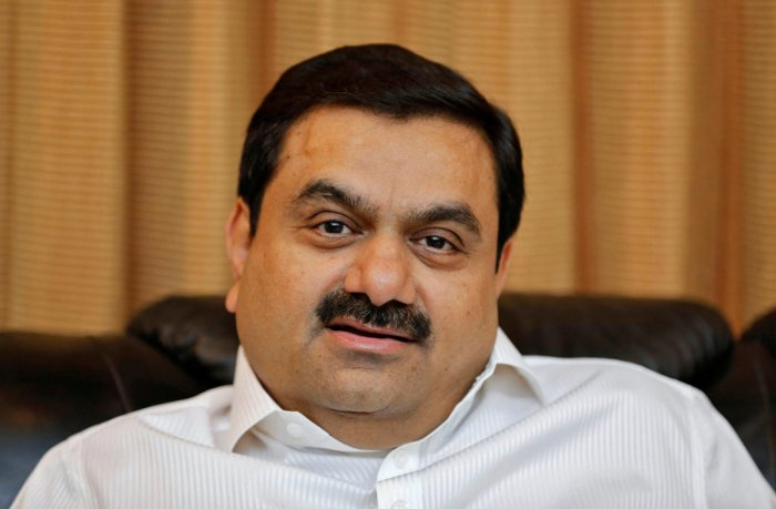 Gautam Adani speaks during an interview with Reuters