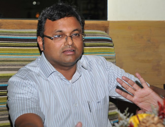 Karti arrived here this morning from Chennai, hours after his father was arrested on Wednesday night after high drama at his residence here in the INX Media case. (DH File Photo)