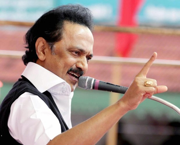 """The DMK launched a frontal attack on the BJP-led Central government, accusing it of running an """"electoral dictatorship"""" and vowed to """"defeat"""" the national party's """"saffronisation dreams"""". PTI File Photo"""