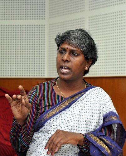 Noted transgender activist Akkai Padmashali, DH file photo