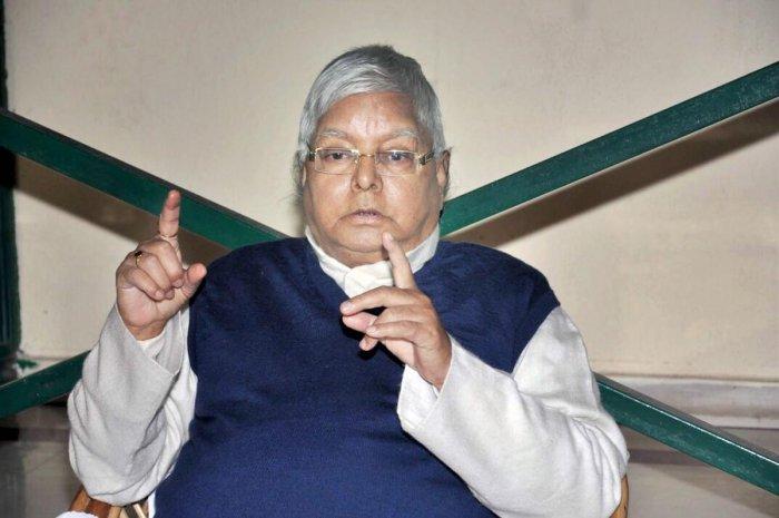 RJD Chief Lalu Prasad Yadav. PTI File Photo
