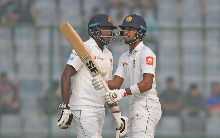 DEADLY DUO Sri Lanka captain Dinesh Chandimal (right) and his predecessor Angelo Mathews will hold crucial to Sri Lanka's fortunes in the series against West Indies. AFP