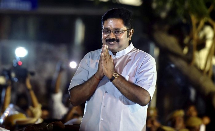 T T V Dhinakaran. PTI file photo