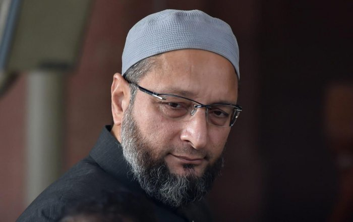 Recording his fourth straight Lok Sabha win, Owaisi won the Hyderabad seat in Telangana by a margin of 2.82 lakh votes. (PTI Photo by Manvender Vashist)