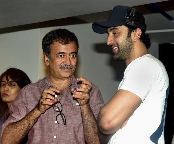 Bollywood film director Rajkumar Hirani (L) and actor Ranbir Kapoor. (PTI File Photo)