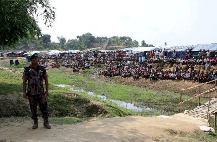 Some 700,000 Rohingya Muslims fled Buddhist-majority Myanmar to Bangladesh after the military launched a brutal crackdown on insurgents in August that the US and the UN have called ethnic cleansing.