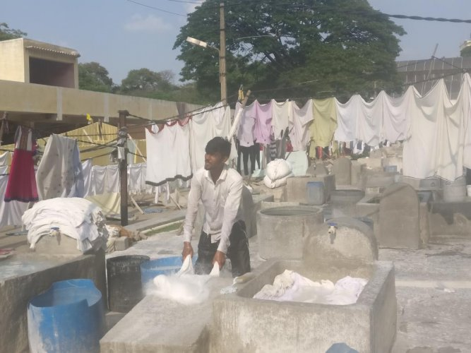 Dhobi ghats in the city have been affected by the water crisis.