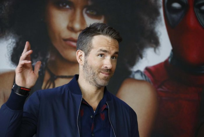 """Actor and producer Ryan Reynolds poses for a picture during a photo call for the movie """"Deadpool 2"""" ahead of the premiere in Berlin, Germany, May 11, 2018. Reuters"""