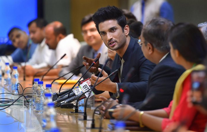 Sushant Singh Rajput is reaching for the Moon, literally. PTI file photo