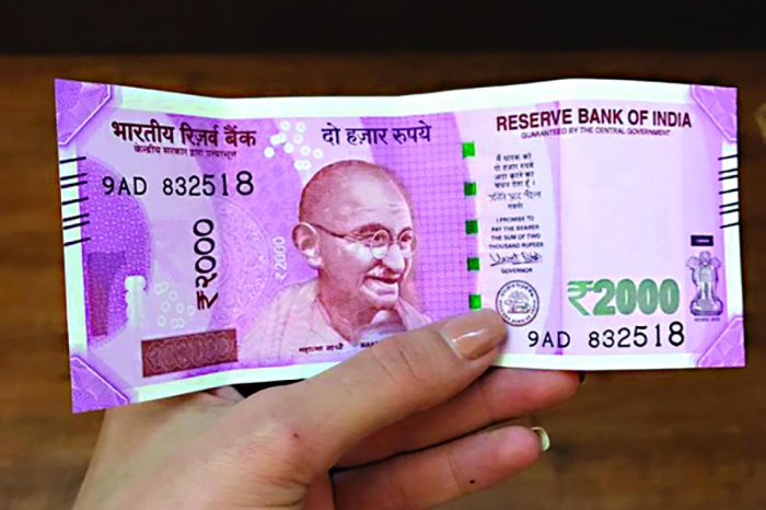 The cost of a Rs 2000 currency note fell 65 paise or 18.4 per cent in 2018-19 compared to the year-ago period, according to official data. File photo