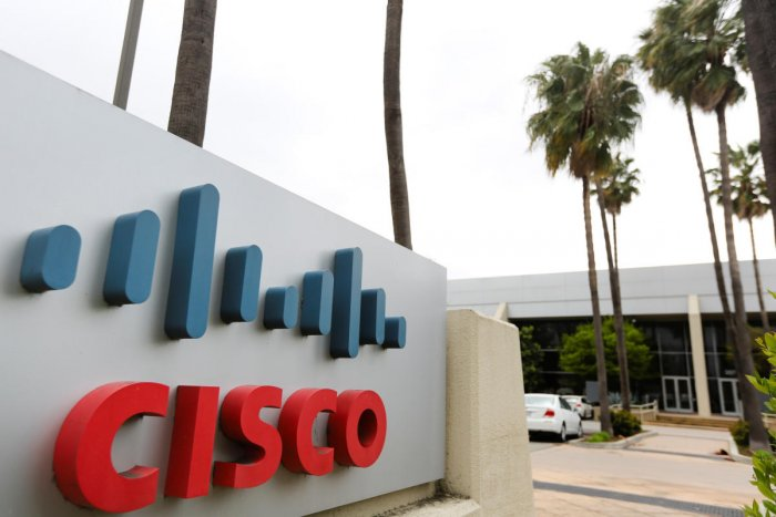 A Cisco Systems sign is seen outside a Cisco health clinic at Cisco Systems in San Jose, California. REUTERS