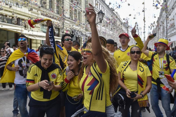 Nikolskaya street in Moscow has become the main hangout place for the World Cup fans. AFP