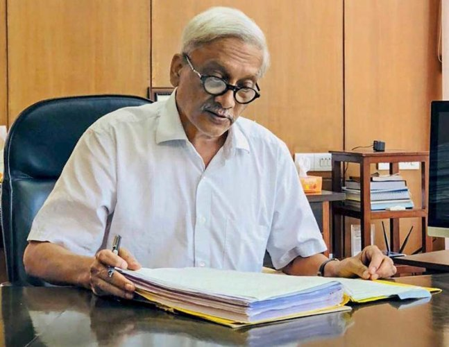 Parrikar, 63, died on March 17 after a prolonged battle with a pancreatic ailment. PTI File photo