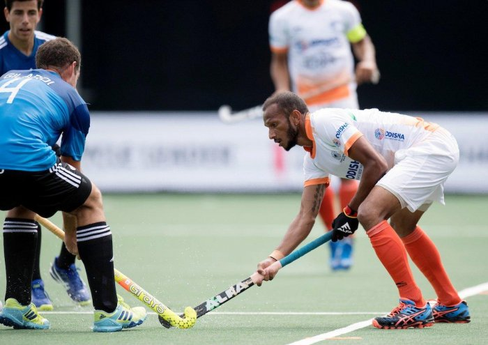 India will take on world champions Australia in their next round-robin match on June 27. Image courtesy Hockey India/Twitter
