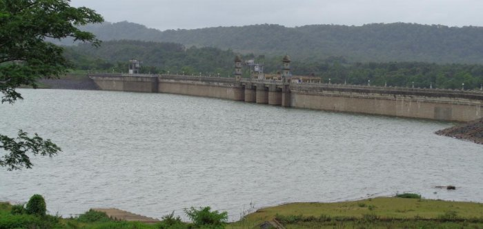 A view of the Harangi reservoir.
