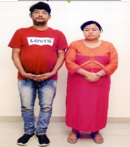 Online horror: Kushan Mazumdar and his wife Rupali Mazumdar.