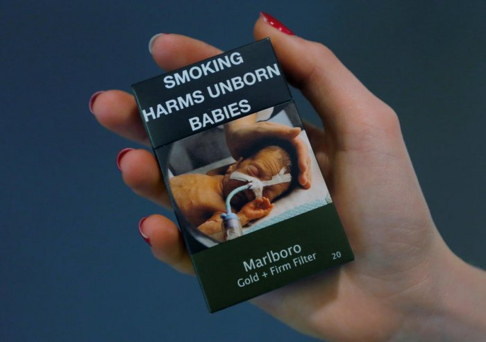 A packet of Marlboro cigarettes made by Philip Morris are pictured in this photo illustration on July 3, 2017. Reuters photo