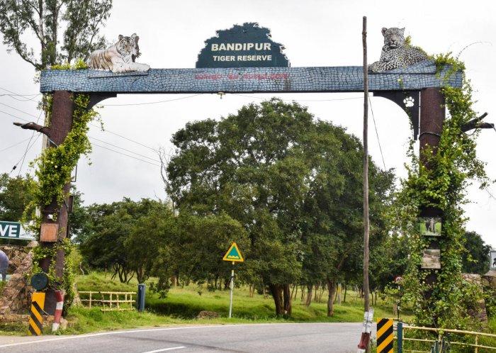 The entrance of Bandipur Tiger Reserve.
