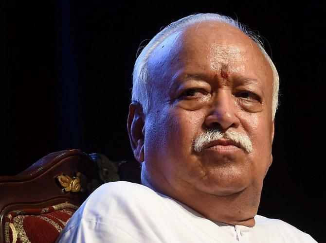 RSS chief Mohan Madhukar Bhagwat. PTI file photo