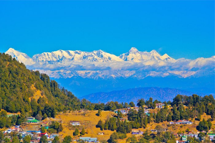 View of the Himalayas from Tiffin Top, Nainital