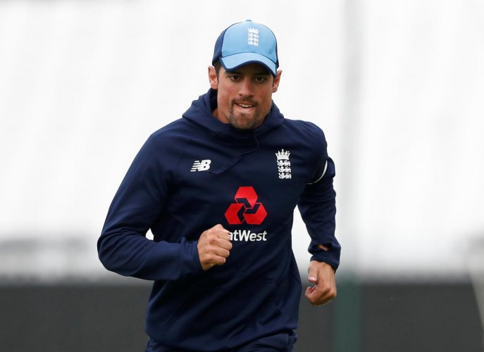 FOR ONE LAST TIME England's Alastair Cook during a practice session at the Oval on Wednesday. Reuters