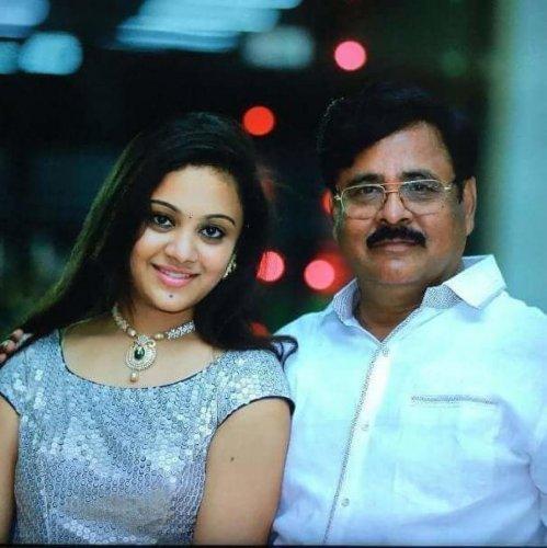 Amrutha Varshini with her father Maruthi Rao. A file photo