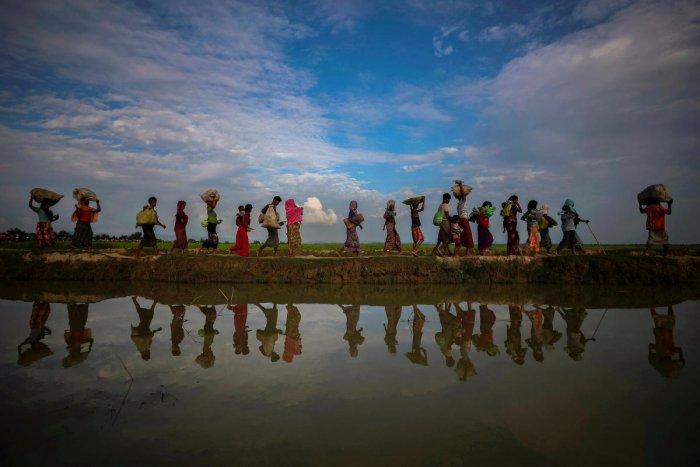 Rohingya refugees after fleeing from Myanmar into Palang Khali, near Cox's Bazar, Bangladesh. REUTERS/Hannah McKay/File Photo