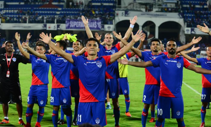 Defending champions Bengaluru FC are the team to beat in the sixth edition of the Indian Super League. DH PHOTO
