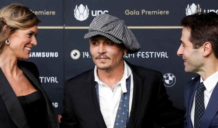 """Actor Johnny Depp before presenting his recent movie """"Richard Says Goodbye"""" during the 14th Zurich Film Festival in Zurich, Switzerland, on October 5, 2018. Reuters"""