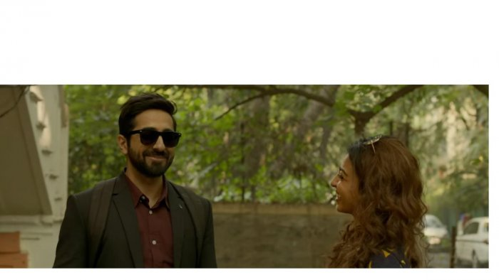 Ayushmann Khurrana and Radhika Apte in Andhadhun, now showing in the city.