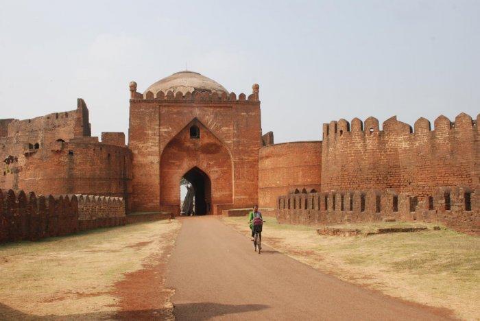 The imposing gateway of Bidar Fort