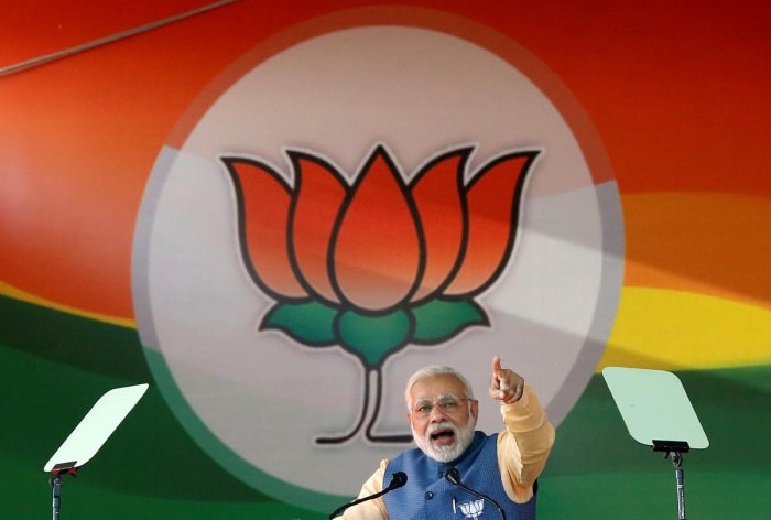 India's Prime Minister Narendra Modi addresses an election campaign rally ahead of the Karnataka state assembly elections in Bengaluru. REUTERS file photo