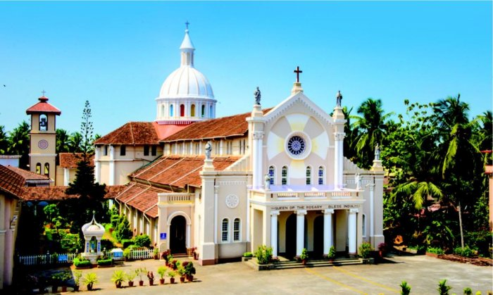 A view of Holy Rosario Cathedral in Mangaluru.