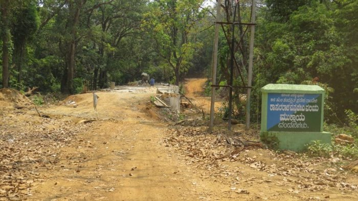 A picture of work on a bridge in Kumbarwada Range of Kali Tiger Reserve last year.