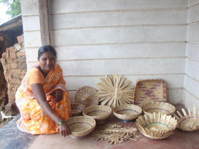 Bamboo craft, Mugad, Dharwad - Photos by Malati Hegde
