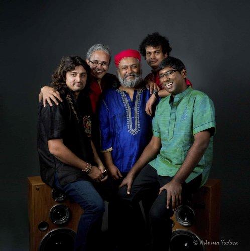 (From left) Amit Kilam, Himanshu Joshi, Rahul Ram, Tuheen Chakravorty and Nikhil Rao.