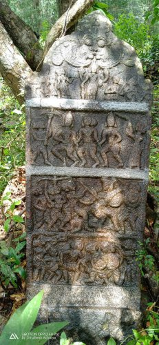 The 'Veeragallu' found at Urmalakatta in Udupi district.