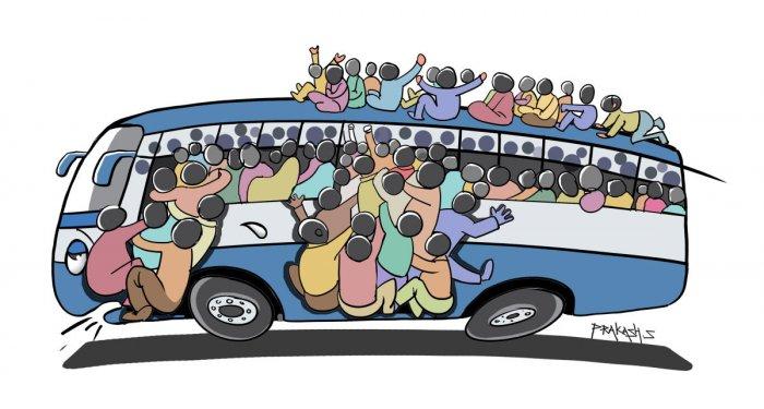 Point blank_BMTC bus rush