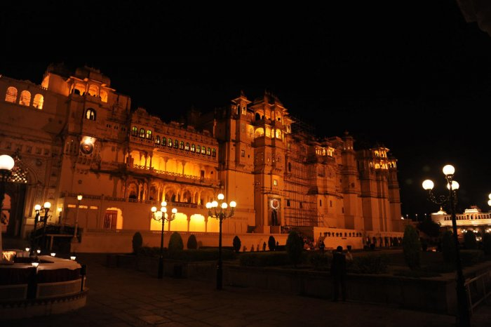 The City Palace illumination before the Light and Sound Show takes your breath away. PHOTOS BY AUTHOR