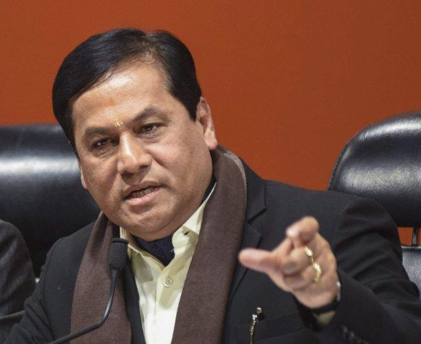 Assam Chief Minister Sarbananda Sonowal. (PTI Photo)