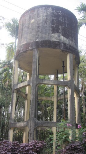The water tank built in Bethu village in Napoklu under Swajaladhara scheme.