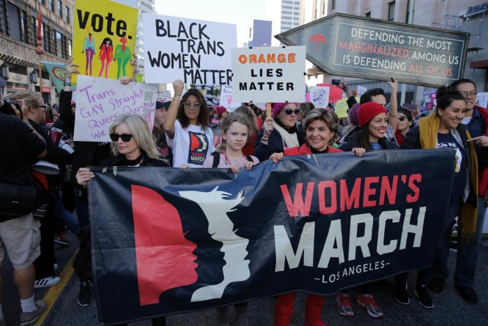Attorney Gloria Allred participates in the Women's March California 2019 on January 19, 2019 in Los Angeles, California. Demonstrations are slated to take place in cities across the country in the third annual event aimed to highlight social change and ce