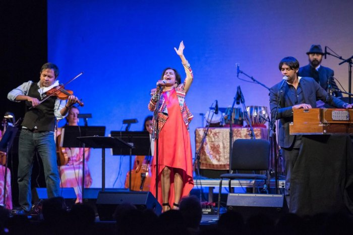 Falu Shah at a live show. She says her music gurus taught her many important life lessons.