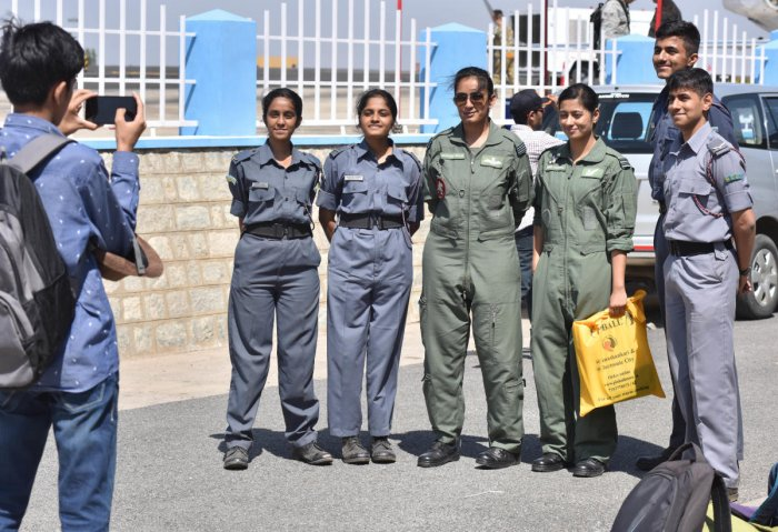 On Thursday, women pilots at Aero India were a big draw.