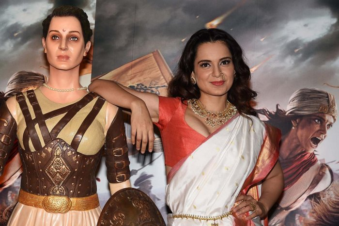 Kangana Ranaut poses at an event to promote her film 'Manikarnika' (The Queen of Jhansi), based on the life of Rani Laxmibai of Jhansi, in Mumbai on March 3, 2019. (AFP photo)