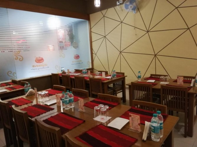 The decor at Ajwa is simple.