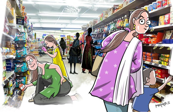 Shopkeepers say that women outnumber men in shoplifting and some even initiate their children into the crime.